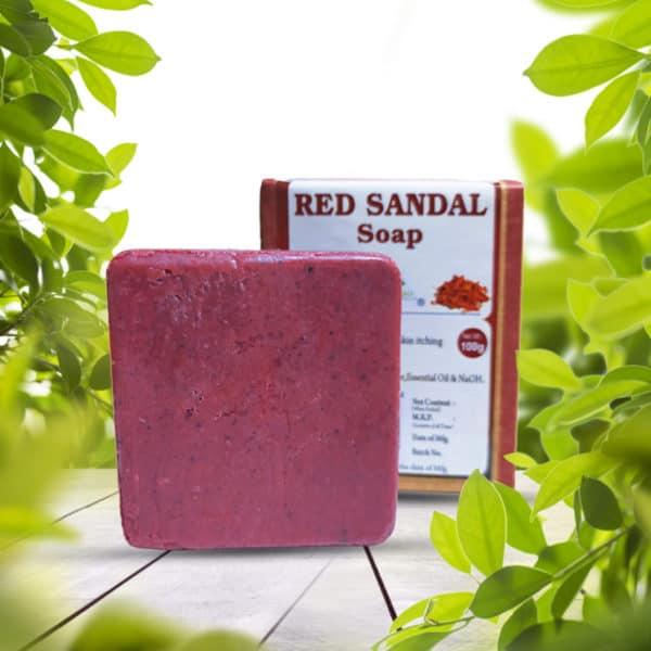 red sandal soap 100g
