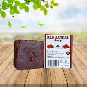 red sandal soap