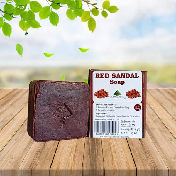 red sandal soap