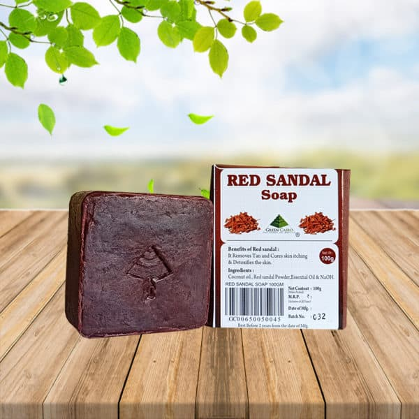 green cairo red sandal soap
