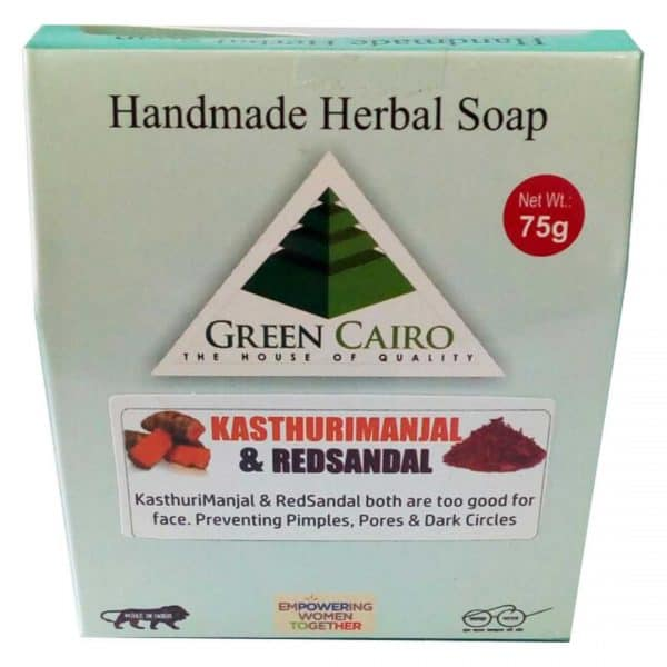 Kasthurimanjal & red sandal soap