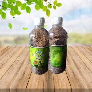 hair oil mix herbs